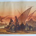 Le Nil Vue du Vieux Caire et les Pyramydes